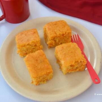 Carrot Cake , Eggless Carrot Cake