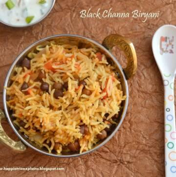 Black Channa Biryani