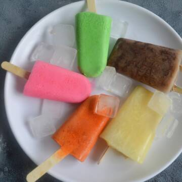 Almond Gum Milk Popsicle