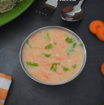Carrot Raita Recipe   How to make Carrot Raita