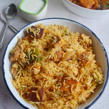Paneer Tikka Biriyani Recipe | How to make Grilled Paneer Biryani Recipe