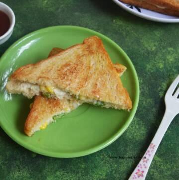 Sweet Corn Cheese Sandwich
