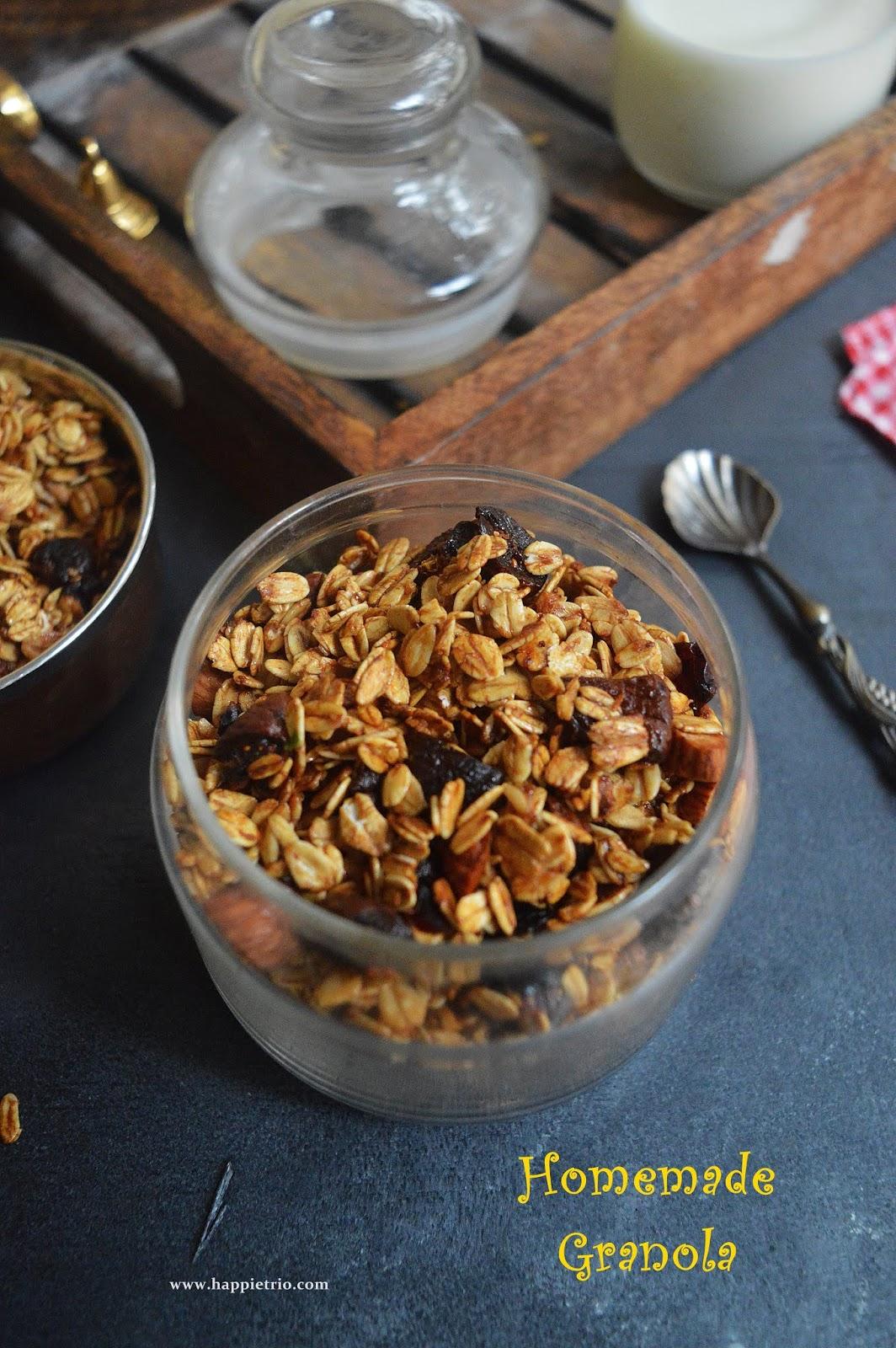 Homemade Granola Recipe How To Make Granola Cook With Sharmila