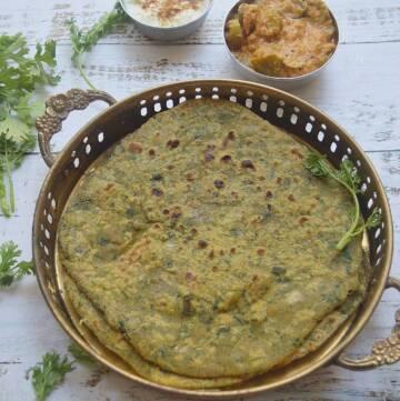 Palak Methi Sweet Potato Paratha