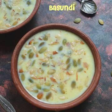 Basundi Recipe | How to prepare Basundi | No Condensed Milk Basundi