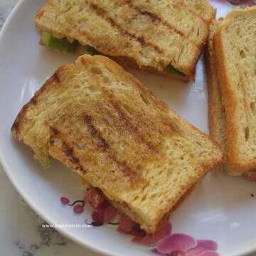 Tri Colour Capsicum Sandwich Recipe   Capsicum Sandwich  Bell Pepper Sandwich