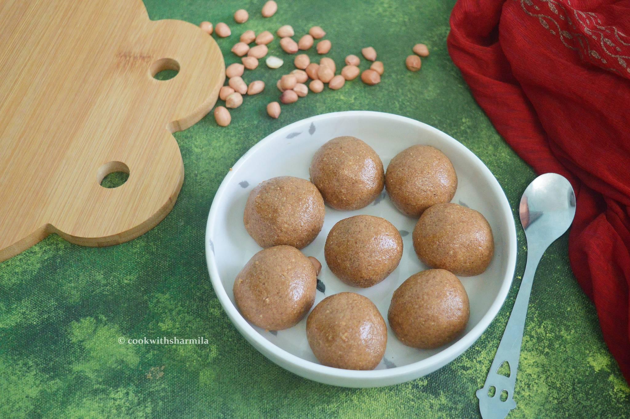 Peanut Ladoo   Groundnut Ladoo   Verkadalai Ladoo