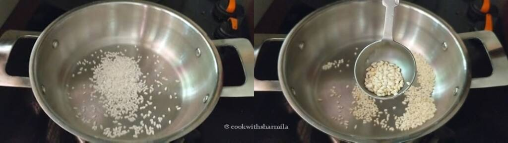 Step 2 : Roast the rice
