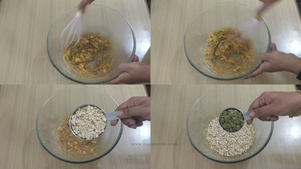 Step 3 - Added Rolled Oats, Pumpkin Seeds for the Breakfast cookies