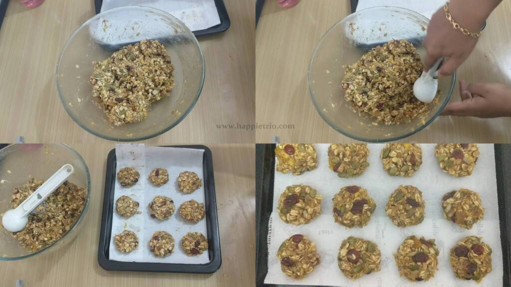 Step 7 - Shape the breakfast cookies of equal size