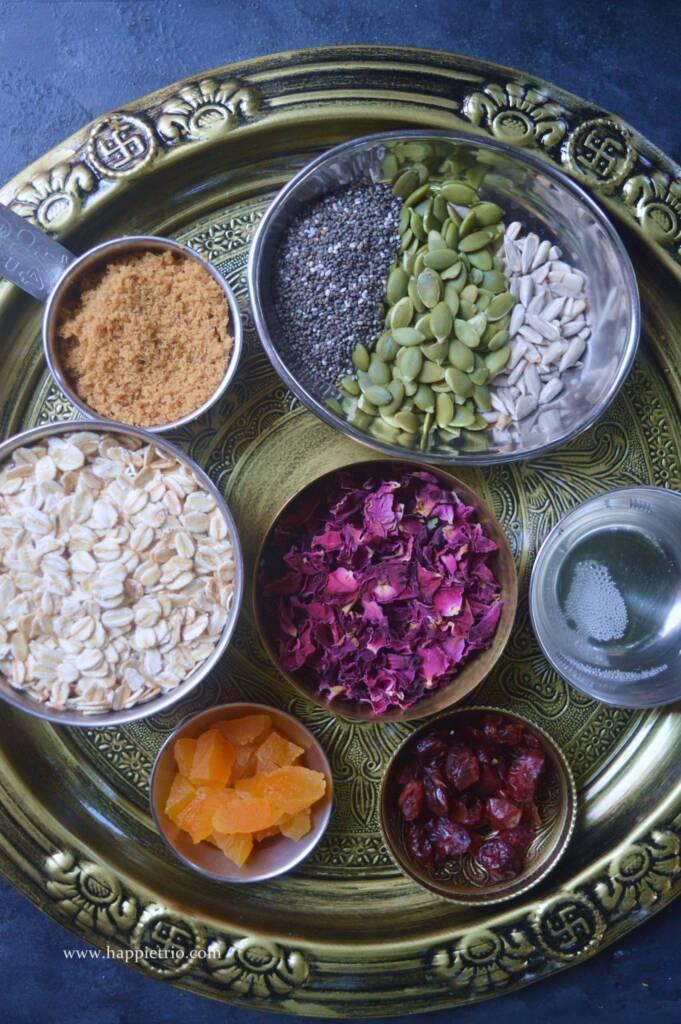 Ingredients for Rose Granola