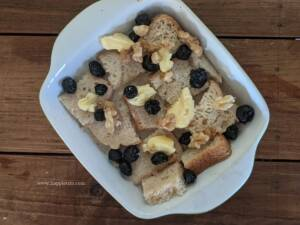 step 6 - Bake the bread pudding