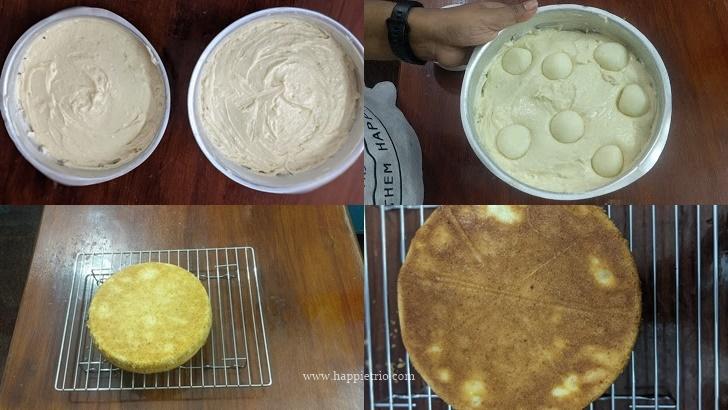 Step 5 - Sponge cake is ready for the Rasgulla Cake Base.