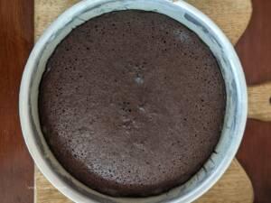 Step 14 - Chocolate Sponge Cake is ready