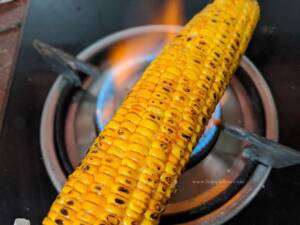 Step6 - Grill the corn in fire once again
