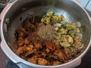 Add the prepared Garam Masala
