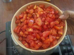 Step 3 - Add chopped tomato