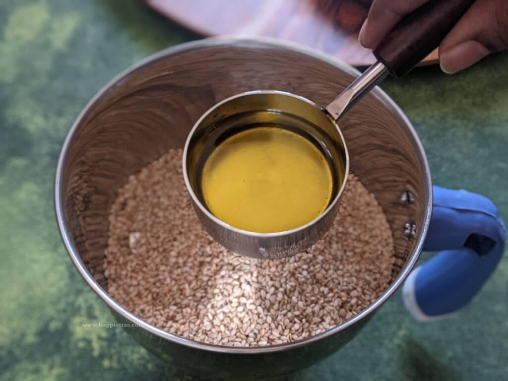 Step 2 - Add in Olive oil
