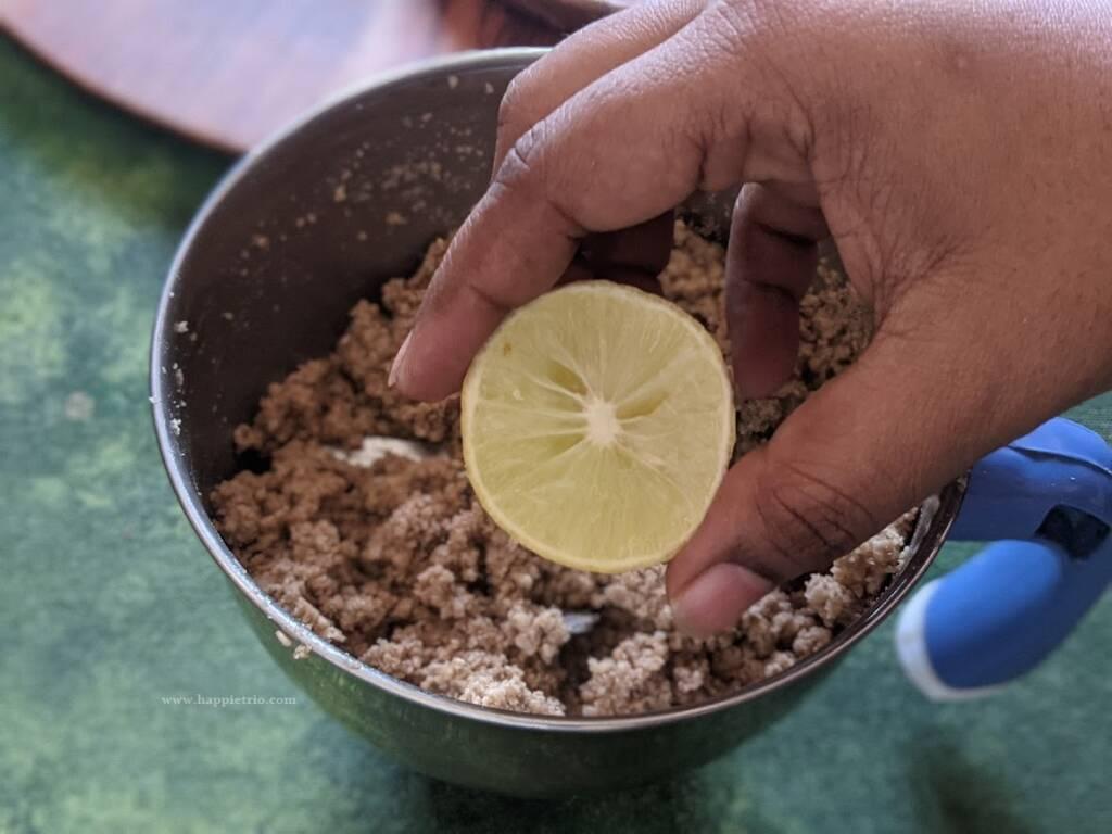 Step 6 - Add in lemon juice