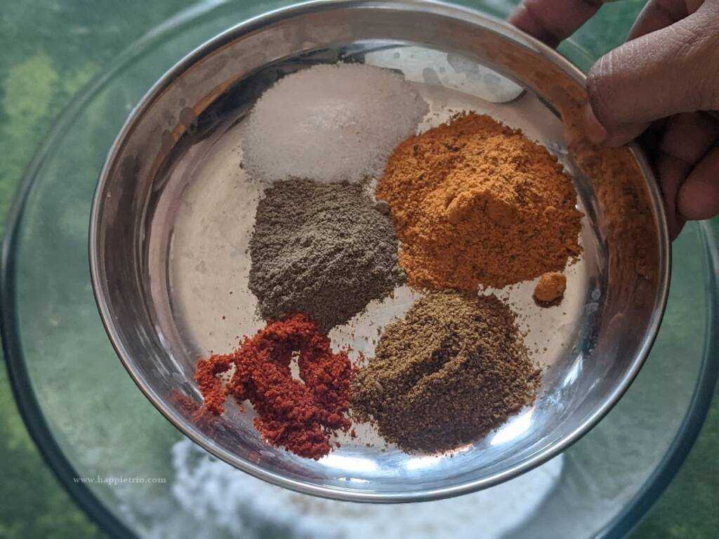 Add in the spice powders