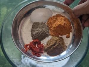 Add All the spice powders
