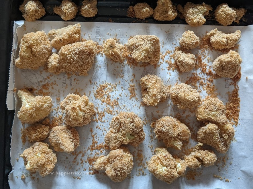 Baked Cauliflower Nuggets is ready