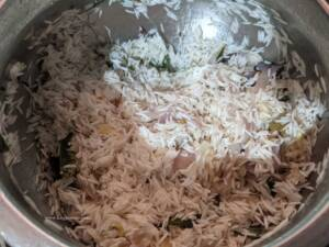 Step 5 - Add in the soaked Rice