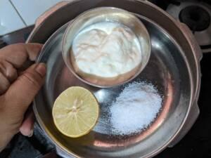Step 7 - Add in lemon juice required Salt
