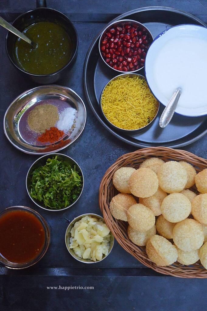 Ingredients for Dahi Puri Chaat