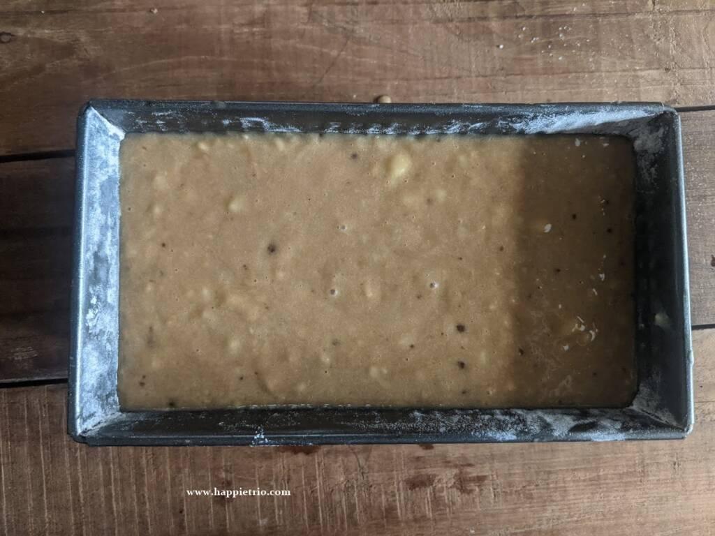 Bake the banana bread