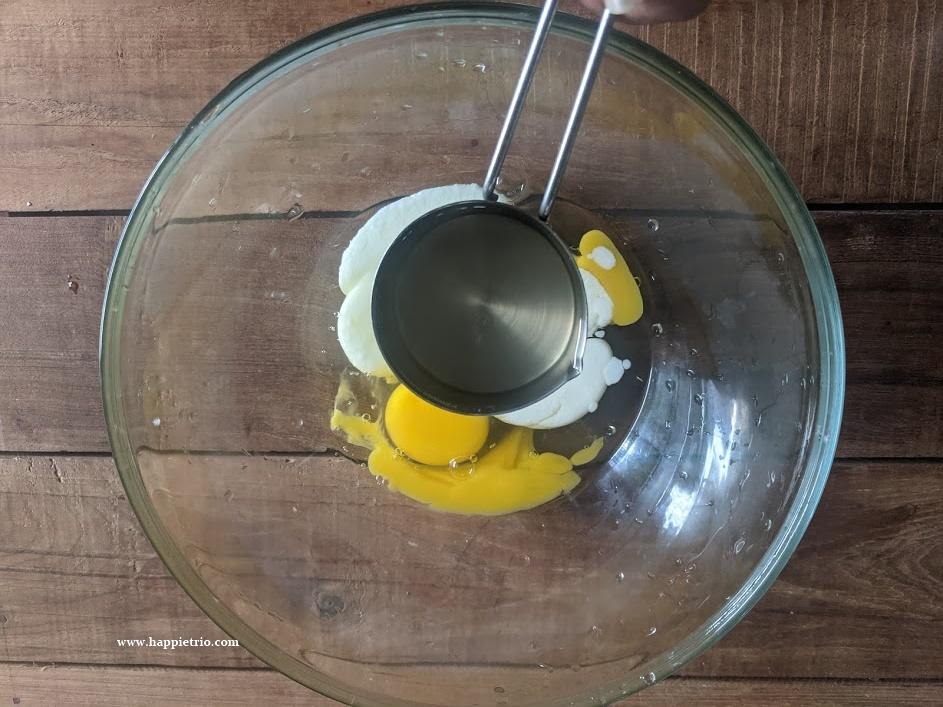 Add in coconut oil