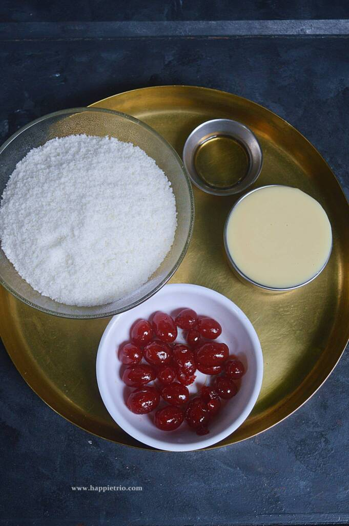 Ingredients for Eggless Coconut Macaroons