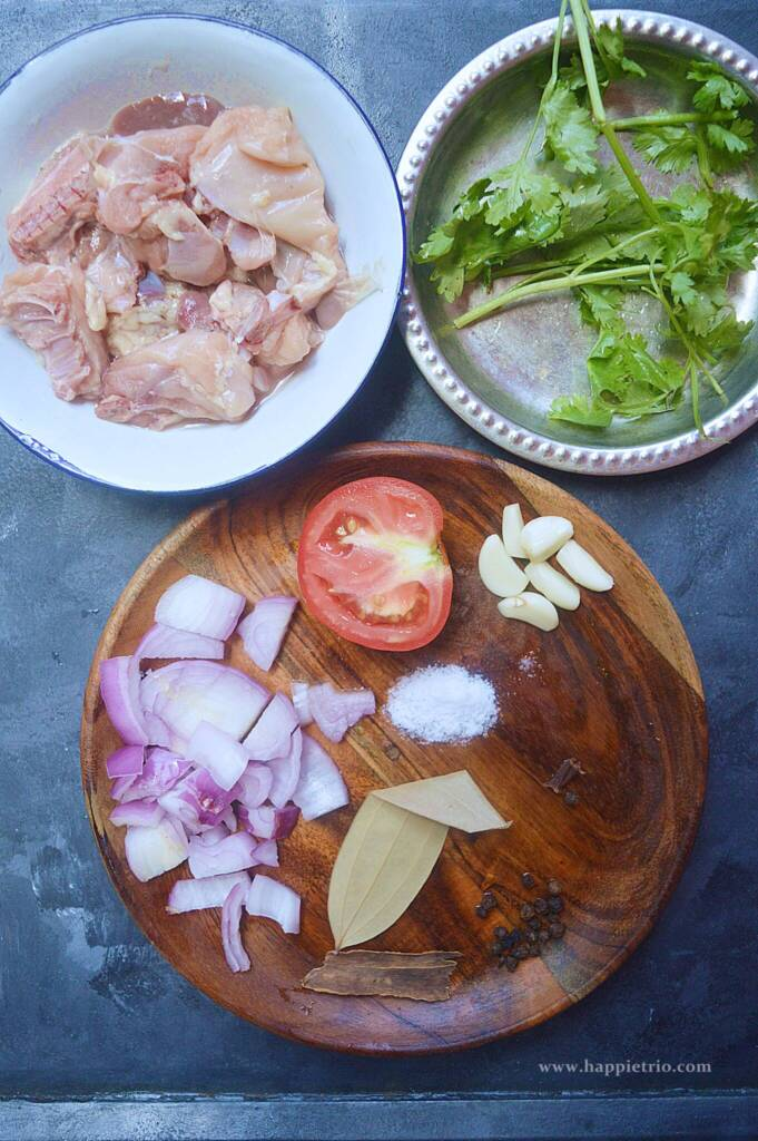 Ingredients for Chicken Clear Soup