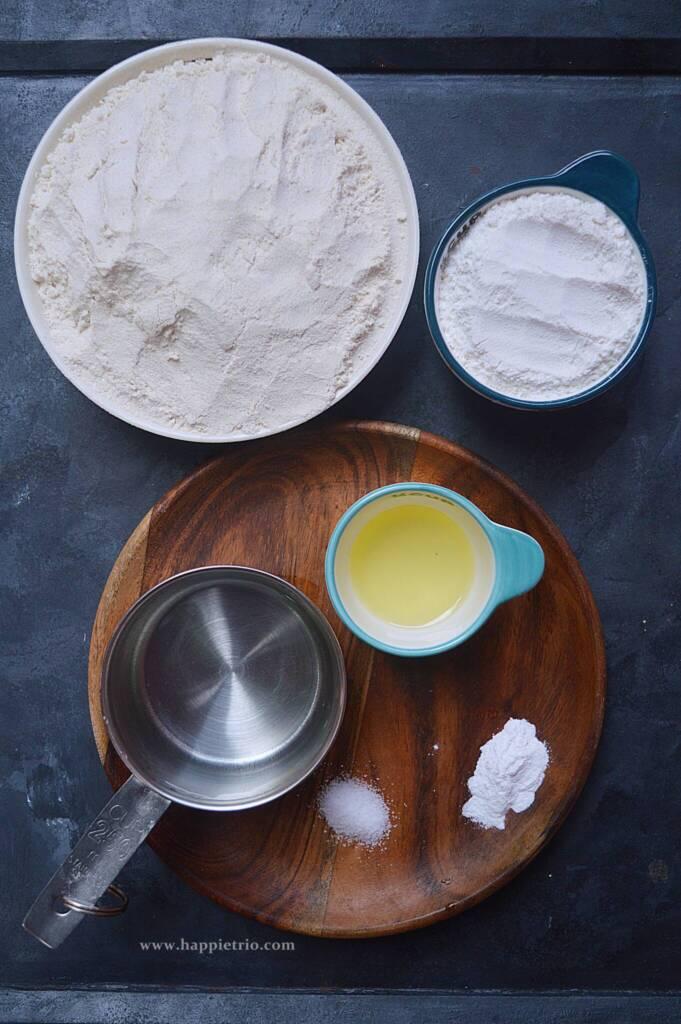 Ingredients for Flour Tortilla