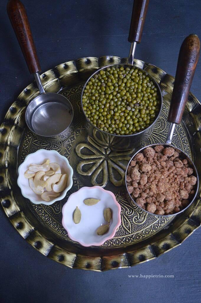 Ingredients for Green Gram Ladoo