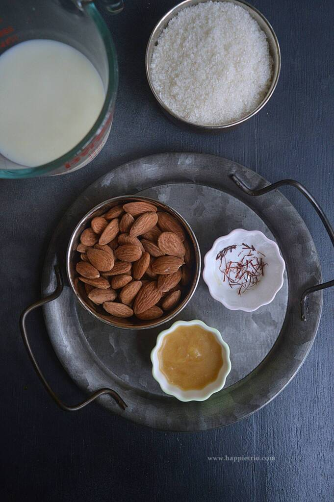 Ingredients for Almond Halwa